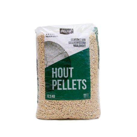 Houtpellets Pelfin 28 zakken - Wit Naaldhoud