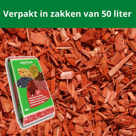 Houtsnippers Rood 1000 liter