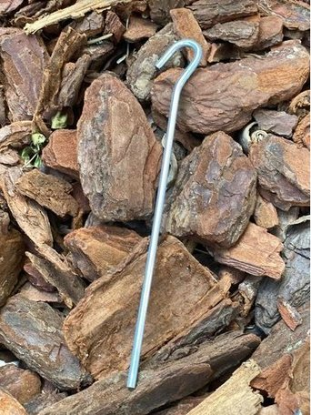 Gronddoekpennen staal  50 stuks